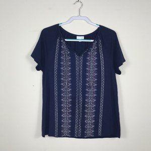 Embroidered tunic boho tassels J.Jill